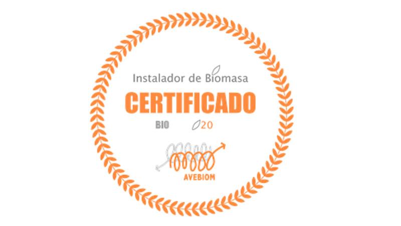 sello instalador biomasa certificado